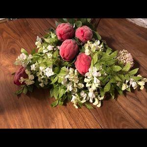 THRESHOLD Faux Protea & Wisteria Bouquet NWT